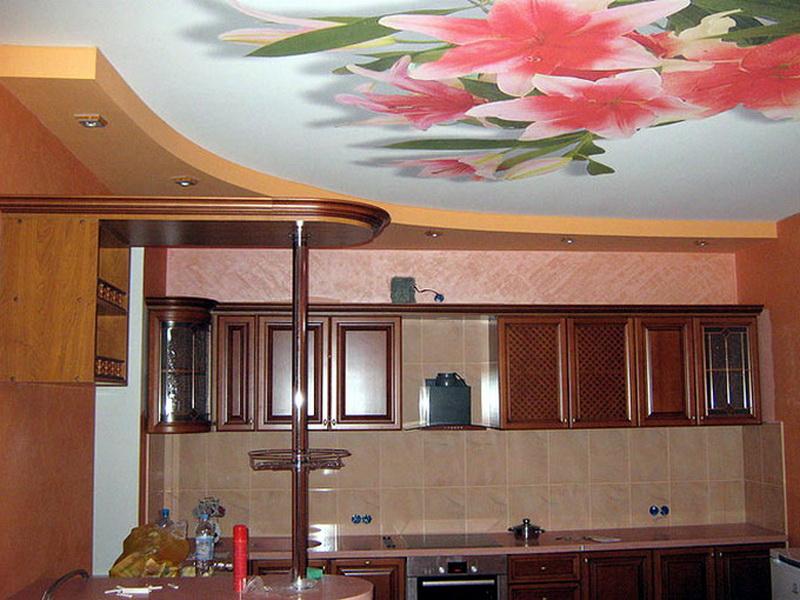 Как сделать потолок на кухне фото